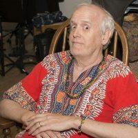 "Pat Brennan relaxes (keyboardist ""The Woodstock Era"")"