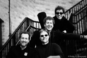 """The Love"" is Derrick ""Suede"" Stout (guitar, keys, vocals), Dave Steffen (guitar, vocals), Howie Martino (bass, vocals), & Blair Holmes (vocals)"