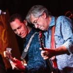 Todd Lazar (playing bass) and Dennis Costis (on guitar)