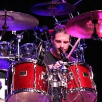 Tom Cassady, drums, the Wall of Denial Steve Ray Vaughan tribute band