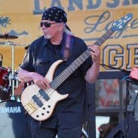 Tom Hamning, bass guitar, the Wall of Denial Steve Ray Vaughan tribute band