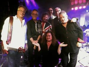 """Have a Cigar"" is: Dennis Costis (guitar & vocals), Mike Kondratowicz (drums), Dave Rix (bass, vocals), Dave Purdy (vocals & sax), Ken Johnson (keys), Jay Martini (vocals, keys), Julie Miller (vocals)"